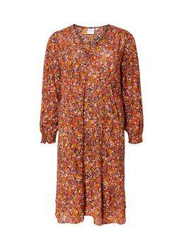 Gebloemde A-lijn jurk paars/multi