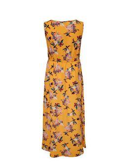 Gebloemde jurk oranje