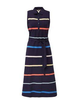 Women Casual gestreepte jurk donkerblauw/multi