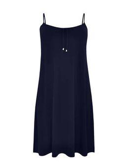Jersey jurk marine