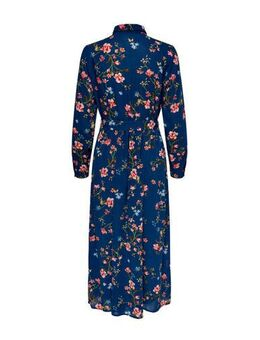 Gebloemde blousejurk donkerblauw