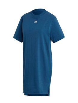 Originals Adicolor T-shirt jurk blauw/wit