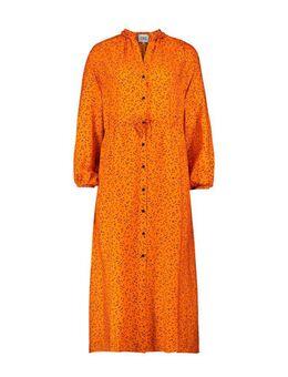 Maxi jurk Janka met stippen oranje