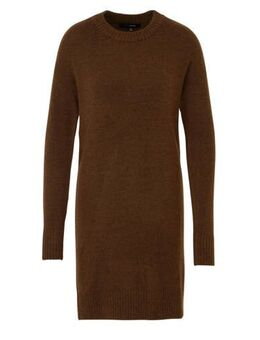 Gebreide jurk donkerbruin