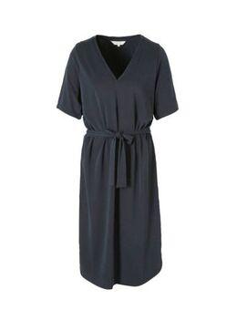 Jersey jurk Bahja met ceintuur donkerblauw