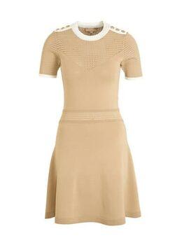 Jersey jurk REGINE met textuur beige