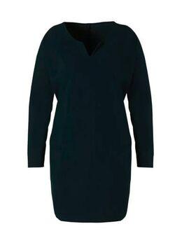 Jersey jurk van travelstof donkerblauw