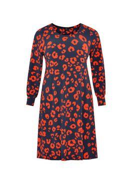 Jersey jurk met dierenprint multi