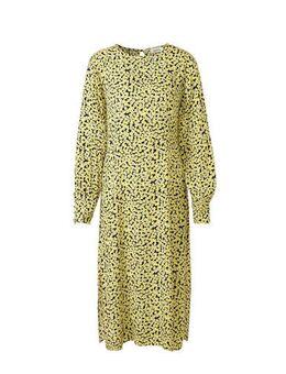 Gebloemde jurk Berta geel