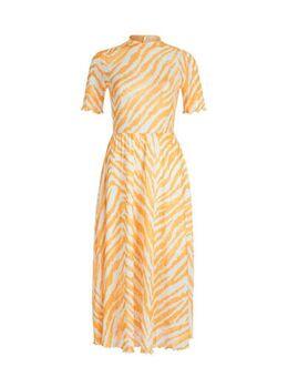 Jurk met zebraprint geel