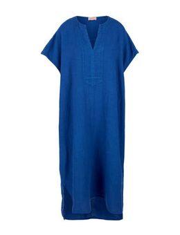 Linnen maxi jurk blauw