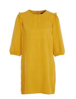 Yessica spijkerjurk geel