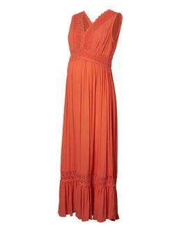 Zwangerschapsjurk Florence met kant oranje