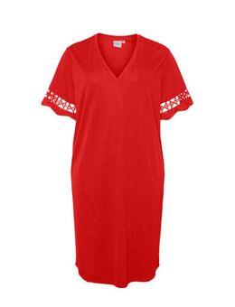 A-lijn jurk met open detail rood