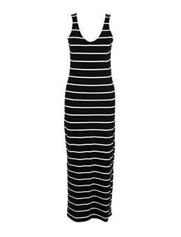Gestreepte maxi jurk May zwart/wit