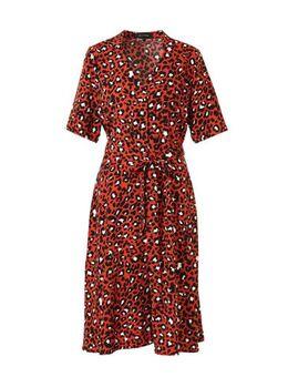 A-lijn jurk Plus size met panterprint brique