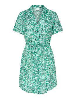 Gebloemde blousejurk groen/wit