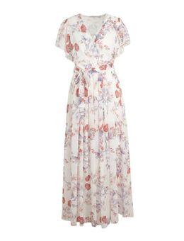 Gebloemde jurk natural white