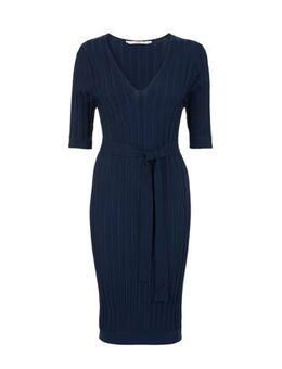 Jersey jurk donkerblauw