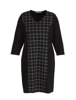 Geruite jurk Dress zwart