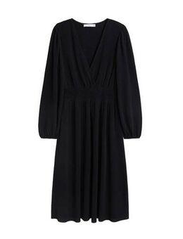 Midi jurk met v-hals