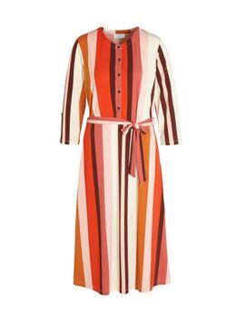 Gestreepte jurk multicolor