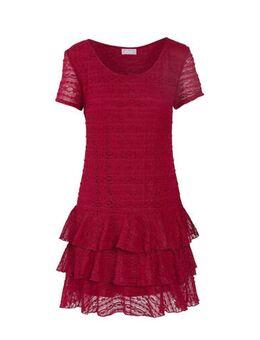 Kanten jurk met glitters bordeaux