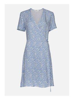 Gebloemde wikkeljurk Elliane Leia SS Wrap Dress AOP lichtblauw