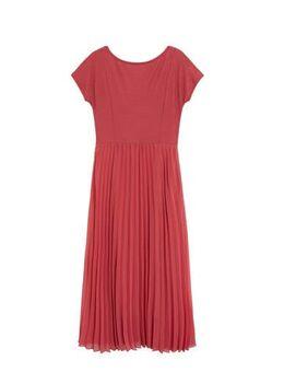 Semi-transparante jurk middenroze