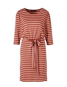 Gestreepte jersey jurk Olinda roze
