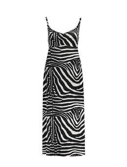 Jurk met zebraprint zwart/grijs