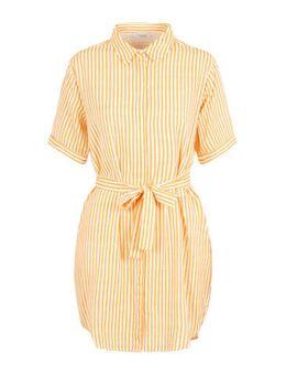Gestreepte blousejurk oranje/wit