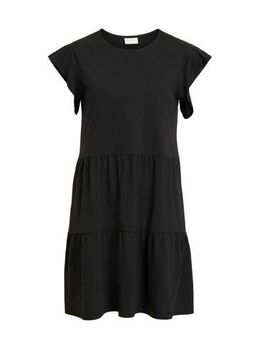Jersey jurk Summer met volant zwart