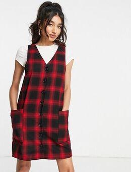 Pinafore dress in check-Multi