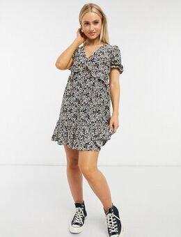 Mini tea dress in animal print-Multi