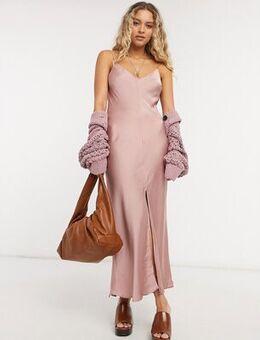 Smoke & mirrors maxi cami dress in pink