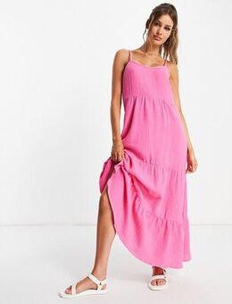 Midi smock dress in pink