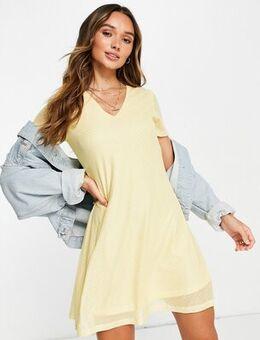 Mini dress in yellow