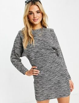 Knitted mini dress in grey