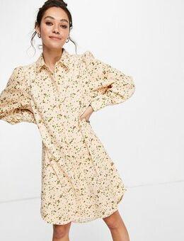 Shirt dress in print-Multi