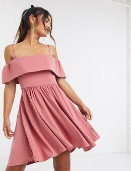 Bardot mini dress in dusty rose-Multi