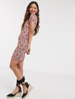 Bardot mini dress-Red