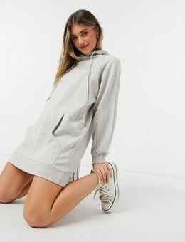 Hoodie dress in light grey