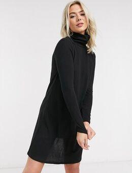 Tonsy turtle neck dress in black