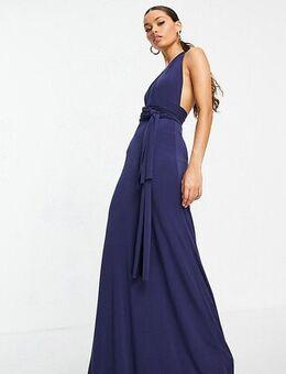 Bridesmaid multiway maxi dress in navy