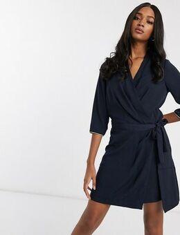 Tie side dress-Navy