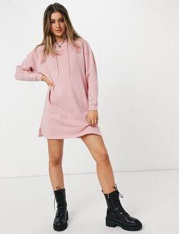 Mini hoodie sweat dress in pink