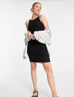 Bodycon mini dress in black