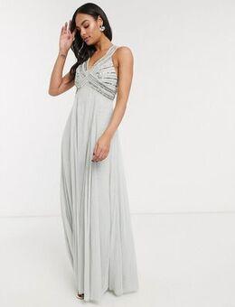 Linear embellished bodice maxi dress-Multi