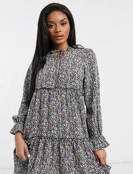 Y.A.S. Petite Aja printed mini smock dress in mutli-Multi